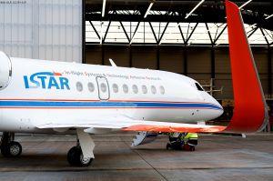 Rollout für DLR-Forschungsflugzeug Falcon 2000LX ISTAR