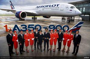 Aeroflot fliegt ihren ersten Airbus A350 XWB