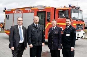 Flughafenfeuerwehr München spendet Feuerwehrauto