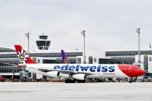 Sonderflüge für Rückholung: Edelweiss A340 in München
