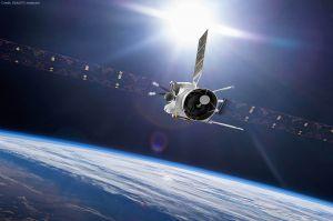 Flyby: BepiColombo rast an Erde vorbei, Blick gen Mond