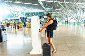 Hygiene-Infrastruktur an Flughäfen für Passagiere