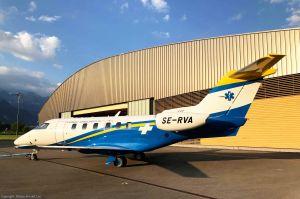 PC-24 Ambulanzflugzeug für Schweden leistet Erstflug