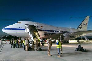 Sternwartenflugzeug SOFIA: Boeing 747SP in Hamburg