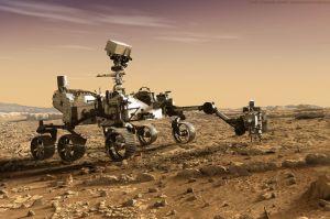Landung und Start für Rover und Hubschrauber auf Mars
