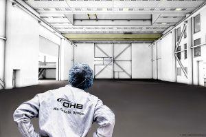 Reinraum für Satellitenbau: OHB öffnet Türen