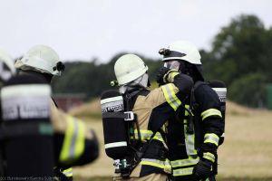 Feuerwehr: Luftwaffe und Bundesheer im Training