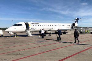 Lufthansa CityLine bindet mit Canadair Jet 900 FMO an