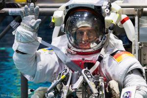 Astronauten Reiter und Maurer am DLRK