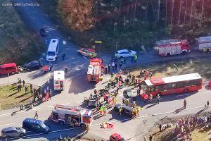 Rettungshubschrauber Teil der Massenanfall-Übung