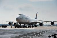 Erste Lufthansa Boeing 747-8 ist in Frankfurt angekommen