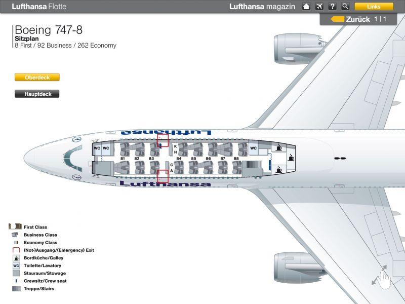 App für virtuellen Rundgang durch Lufthansa-Flotte