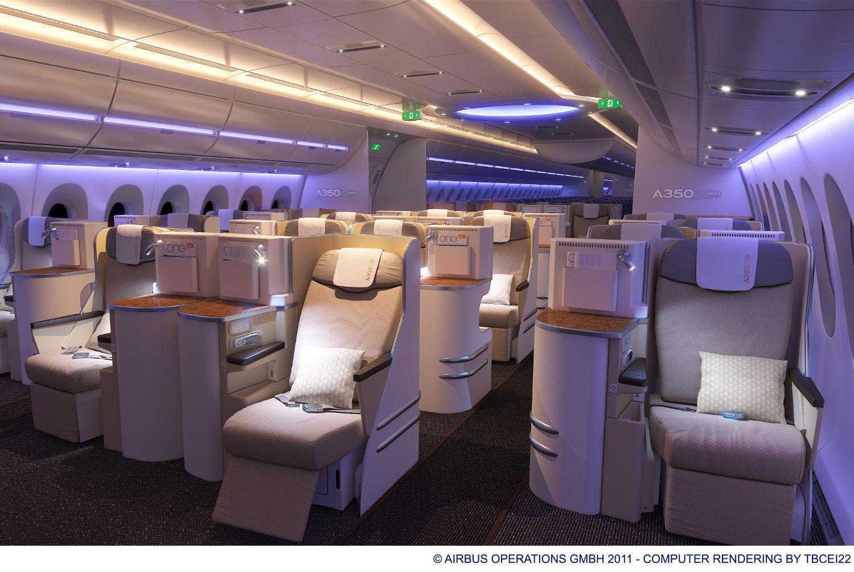 Airbus A350 Xwb Neue Flugzeug Kabine In Finkenwerder Enth 252 Llt