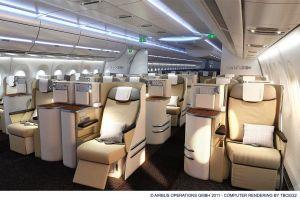 Airbus A350 XWB: Neue Flugzeug-Kabine in Finkenwerder enthüllt
