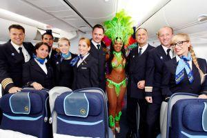 Samba zum Condor-Erstflug nach Fortaleza in Brasilien