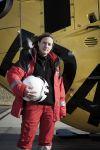 Erste Frau Verantwortliche Pilotin im ADAC-Helikopter