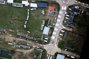 4k-Bilder aus Katastrophen von Hubschrauber und Oktokopter