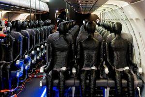 Dummies sollen Wärme-Signatur von Passagieren nachbilden