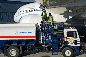 """Boeing lässt 787-9 Dreamliner mit """"Grünem Diesel"""" abheben"""