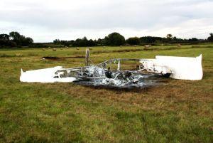 Ultraleichtflugzeug: Absturz neben Unwetter