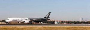 A350-900 XWB landet erstmals am Flughafen Madrid