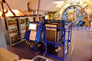 Flugzeug-Teleskop SOFIA mit Helium-gekühltem upGREAT