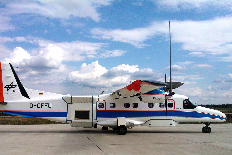 NASA und DLR: Dornier und Gulfstream vermessen Traunstein