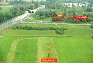 TB 10 stürzte ins Gebüsch am Flugplatz Konstanz EDTZ