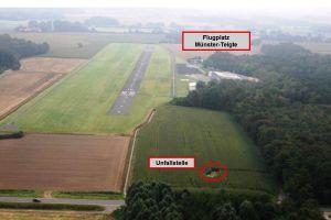 Kollision mit Schleppseil: UL stürzt in Maisfeld
