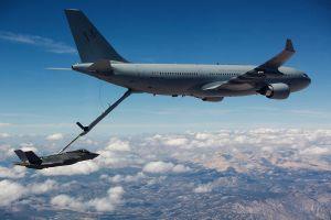 F-35A Joint Strike Fighter erstmals von A330 MRTT betankt