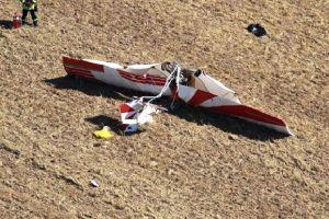 Absturz eines Ultraleichtflugzeugs am Flugplatz Degmarn