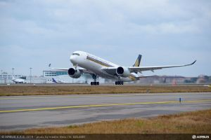 Airbus A350 XWB für Singapore Airlines in der Luft