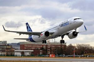 A321neo hebt erstmals ab