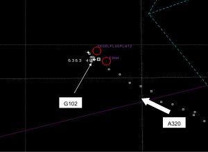 Luftraum E: Segler gefährlich nah an Airbus A320