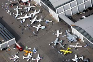 PPR Flugverkehr rund um die AERO am EDNY