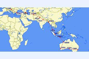 DA62 nach 60 Flugstunden in Australien angekommen