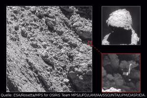 Kometenlander Philae entdeckt