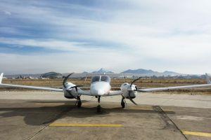 Diamond DA42 MPP am Flughafen El Alto in La Paz getestet