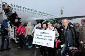 Rostock – Lanzarote mit Germania-Airbus abgehoben