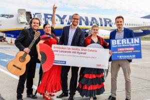 Sonnenziele von Ryanair ab Berlin gestartet