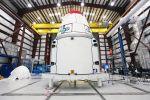 Dragon-Raumkapsel auf dem Weg zur Raumstation ISS