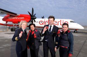 Bombardier der airberlin verbindet Genf mit Düsseldorf