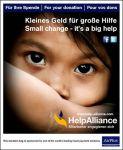 Germanwings sammelt Restgeld-Spenden für HelpAlliance an Bord