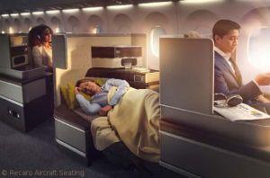 Recaro zeigte digitalisierten Business-Class-Sitz CL6710