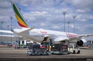 A350 XWB für Ethiopian Airlines nahm Hilfsgüter mit