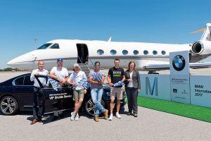 Einflug der Golfprofis zur BMW International Open 2017